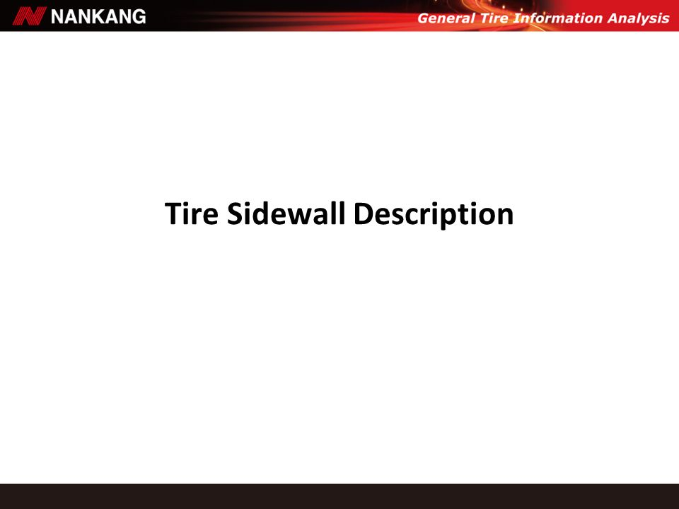 Tire Sidewall Description