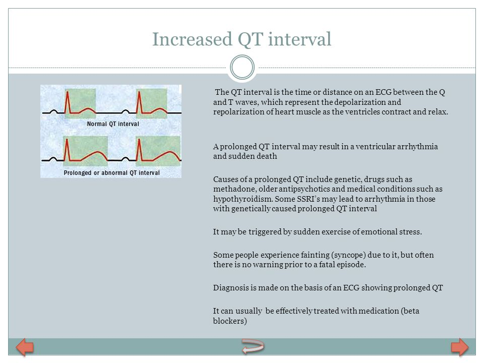Increased QT interval