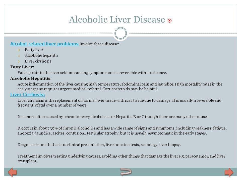 Alcoholic Liver Disease 