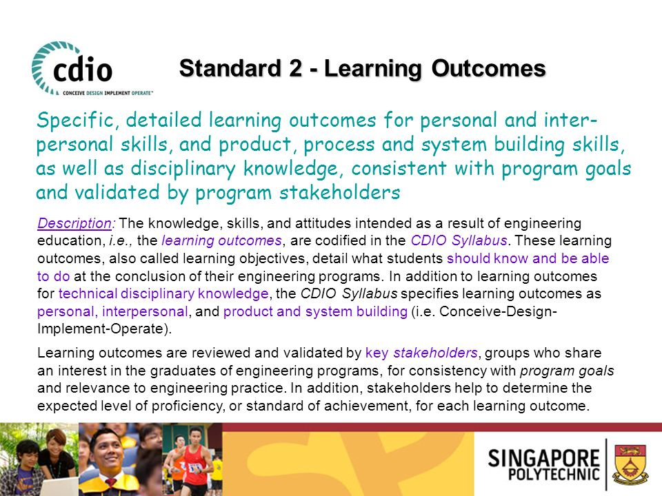 Standard 2 - Learning Outcomes