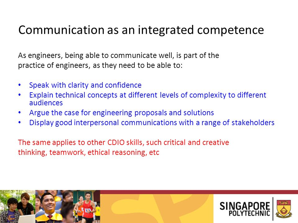 Communication as an integrated competence