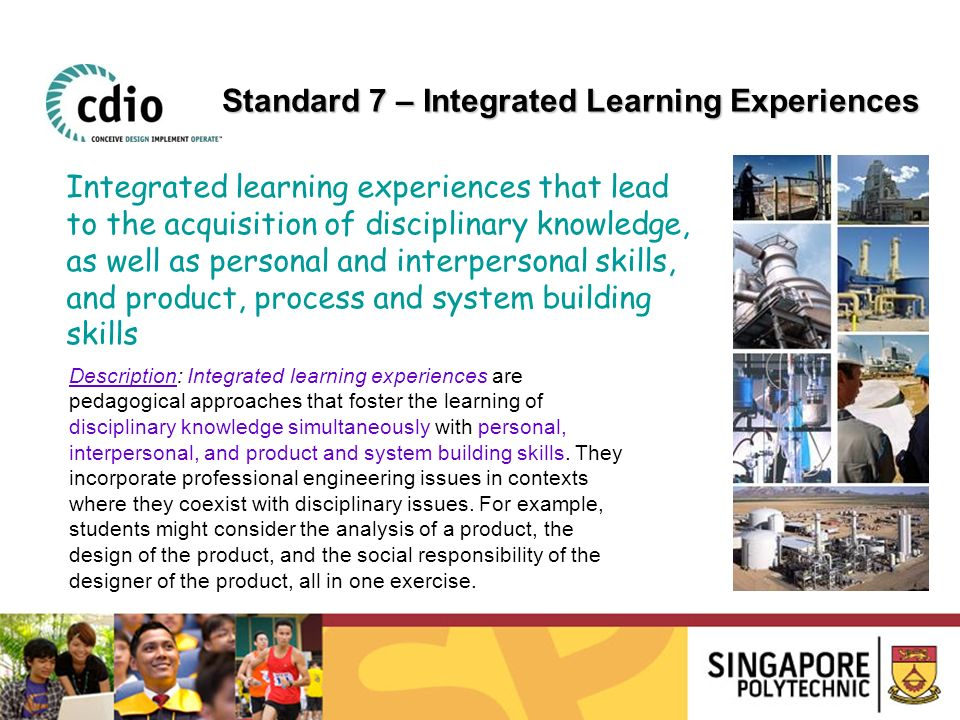 Standard 7 – Integrated Learning Experiences