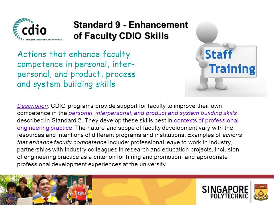 Standard 9 - Enhancement of Faculty CDIO Skills