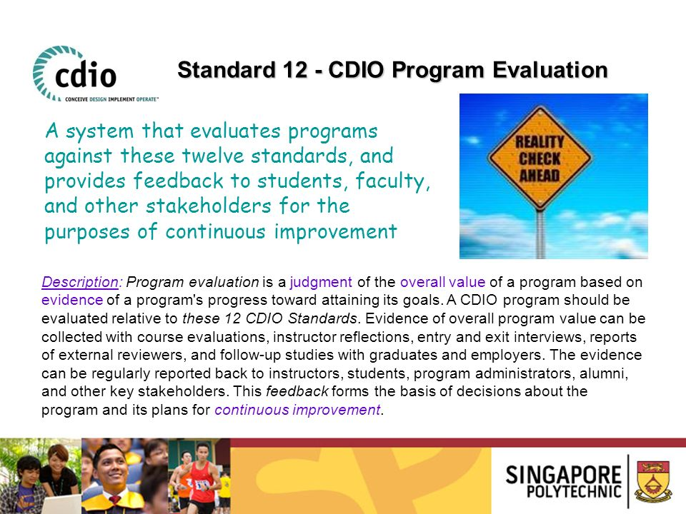 Standard 12 - CDIO Program Evaluation