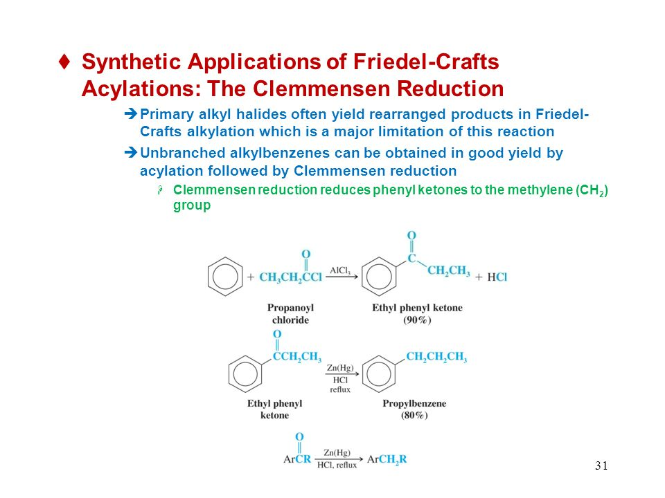 Synthetic Applications of Friedel-Crafts Acylations: The Clemmensen Reduction