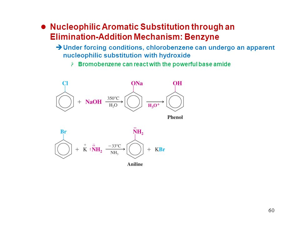 Nucleophilic Aromatic Substitution through an Elimination-Addition Mechanism: Benzyne