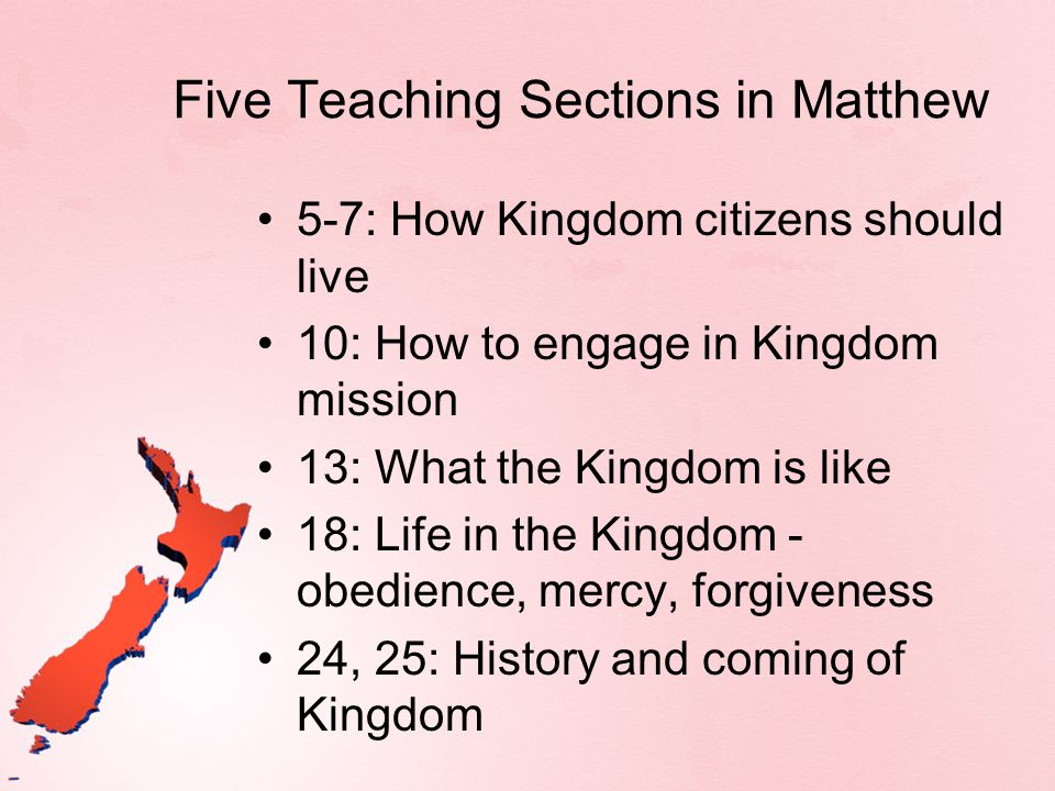 Five Teaching Sections in Matthew