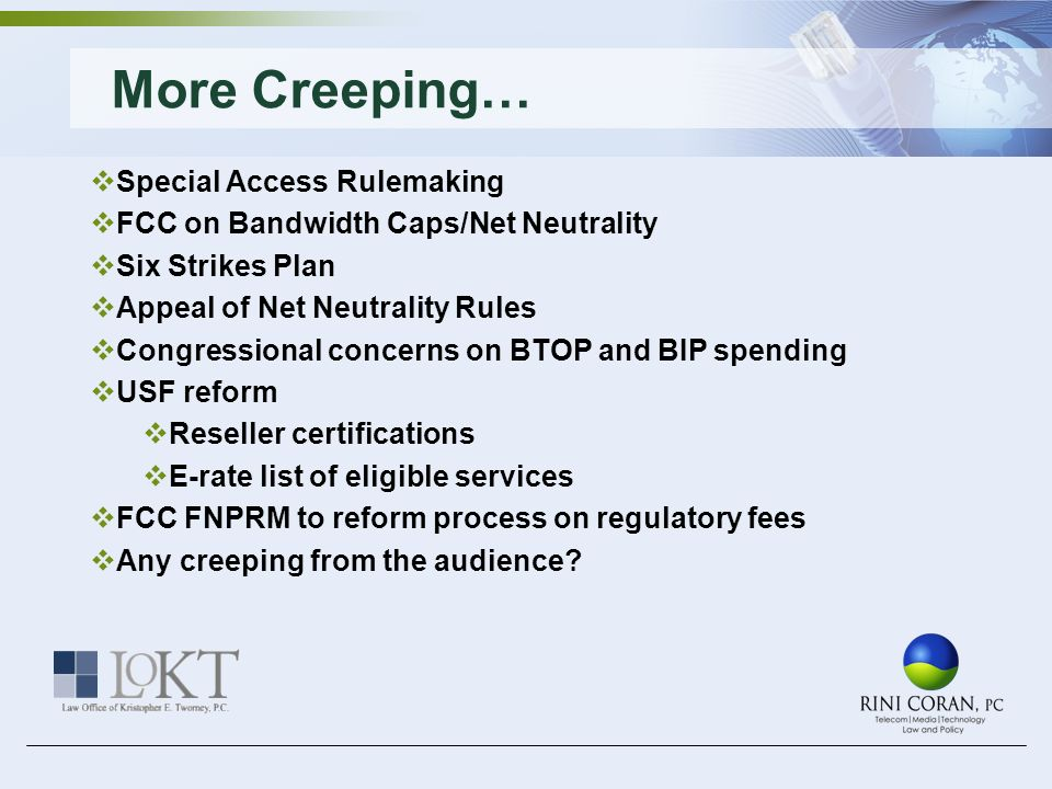 More Creeping… Special Access Rulemaking