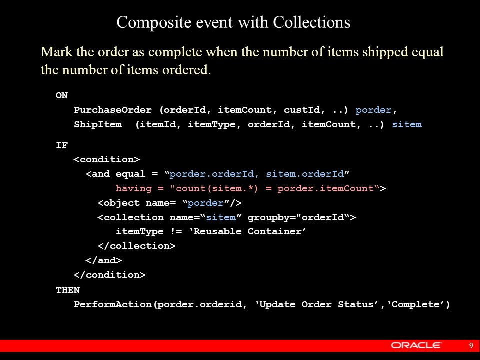 Composite event with Collections