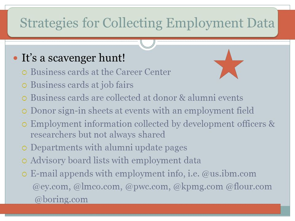Strategies for Collecting Employment Data