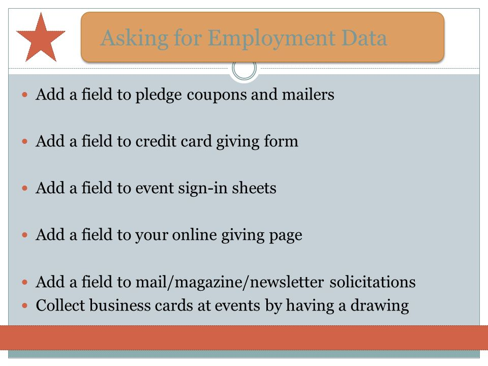 Asking for Employment Data