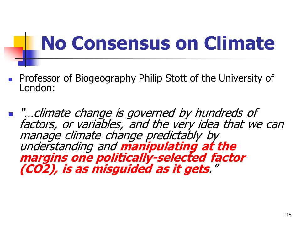 No Consensus on Climate