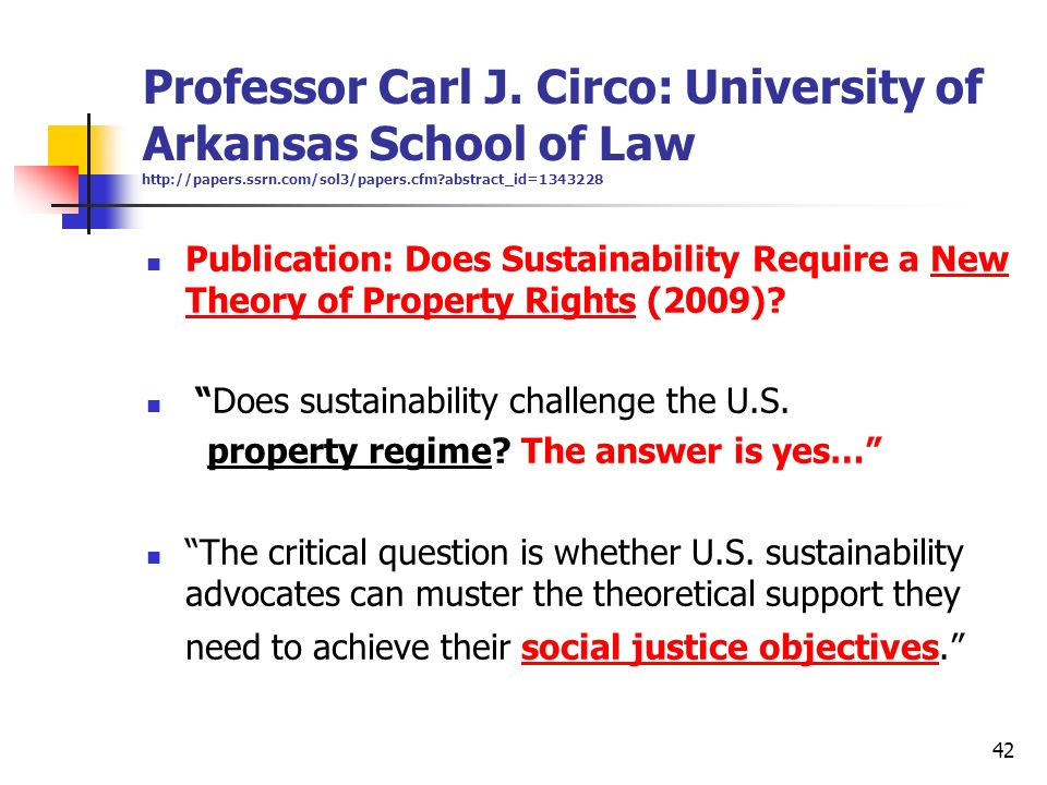 Professor Carl J. Circo: University of Arkansas School of Law http://papers.ssrn.com/sol3/papers.cfm abstract_id=1343228