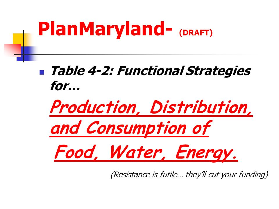 PlanMaryland- (DRAFT)