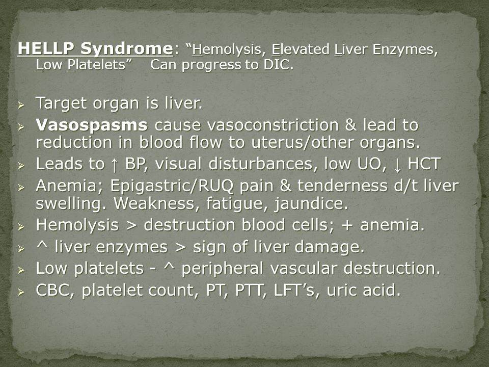 Leads to ↑ BP, visual disturbances, low UO, ↓ HCT