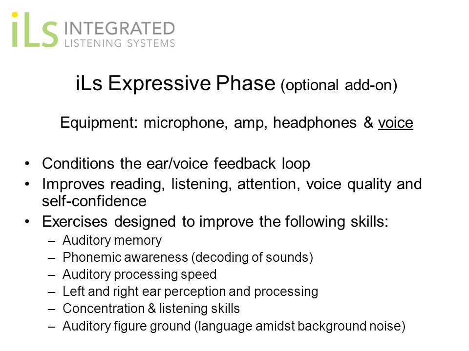 iLs Expressive Phase (optional add-on)