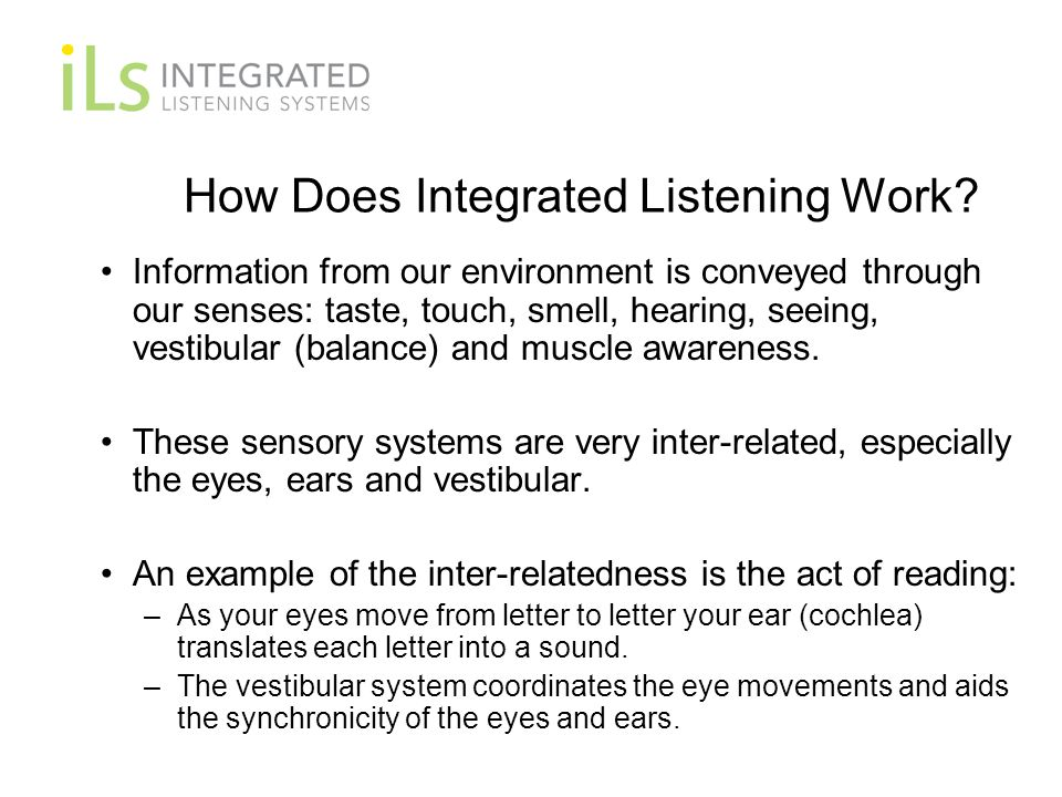 How Does Integrated Listening Work