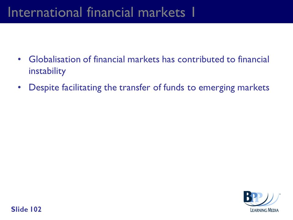 International financial markets 1