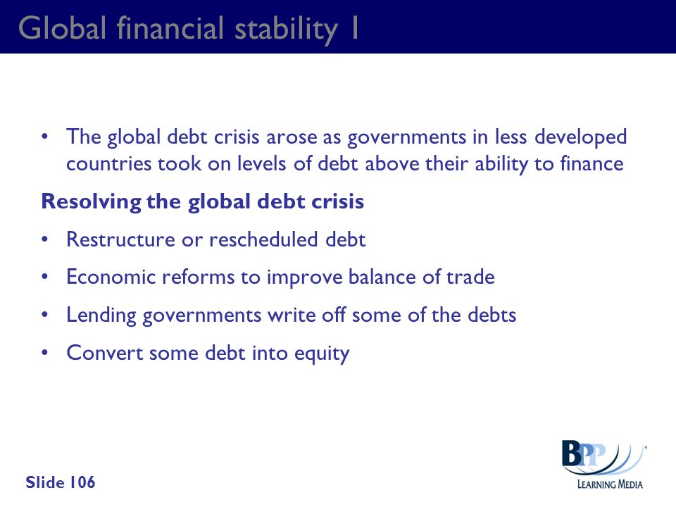 Global financial stability 1