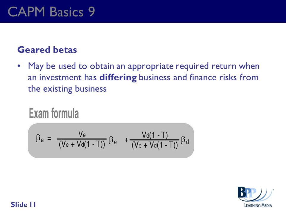 CAPM Basics 9 Geared betas