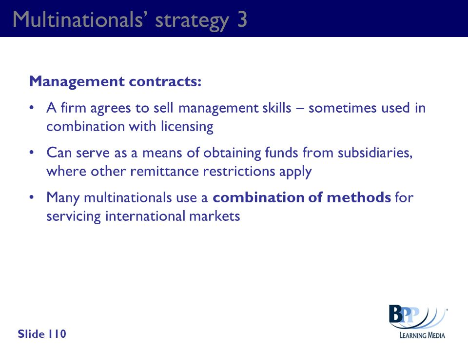Multinationals' strategy 3