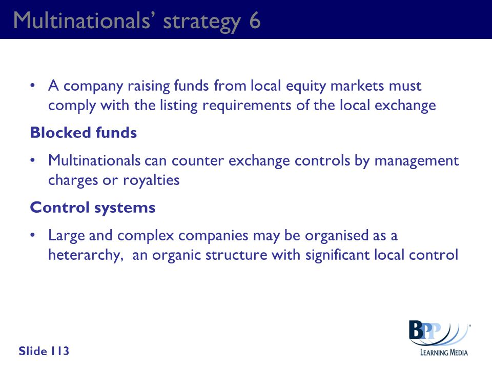 Multinationals' strategy 6