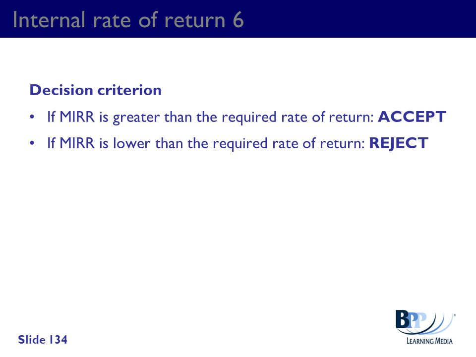 Internal rate of return 6