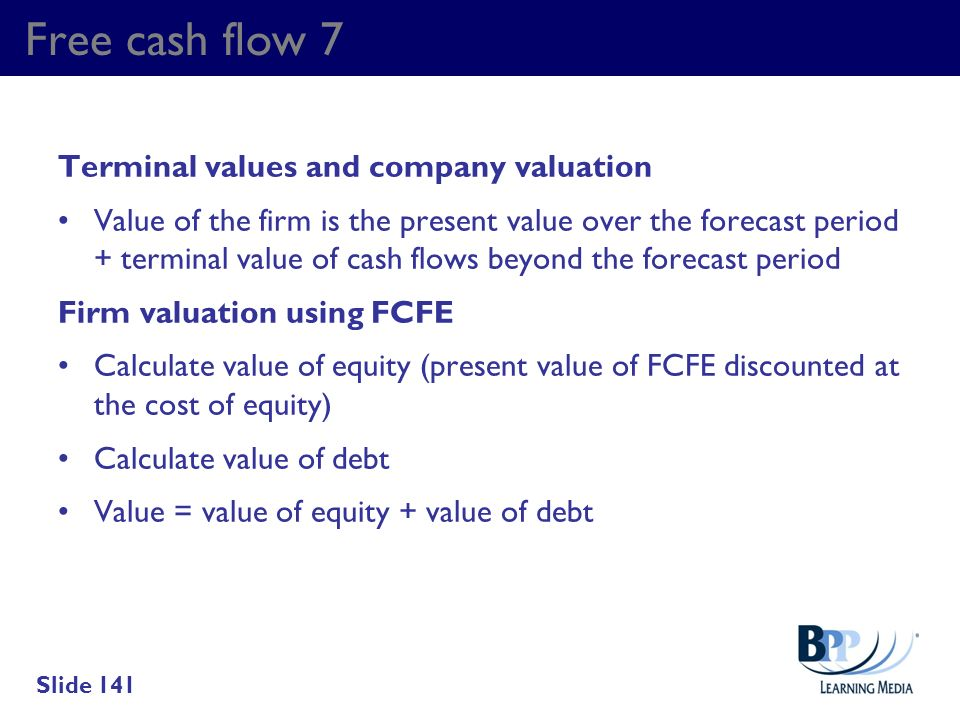 Free cash flow 7 Terminal values and company valuation