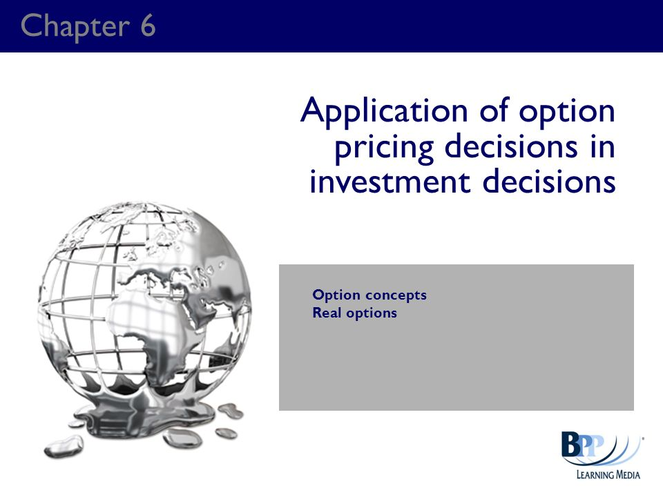 Application of option pricing decisions in investment decisions