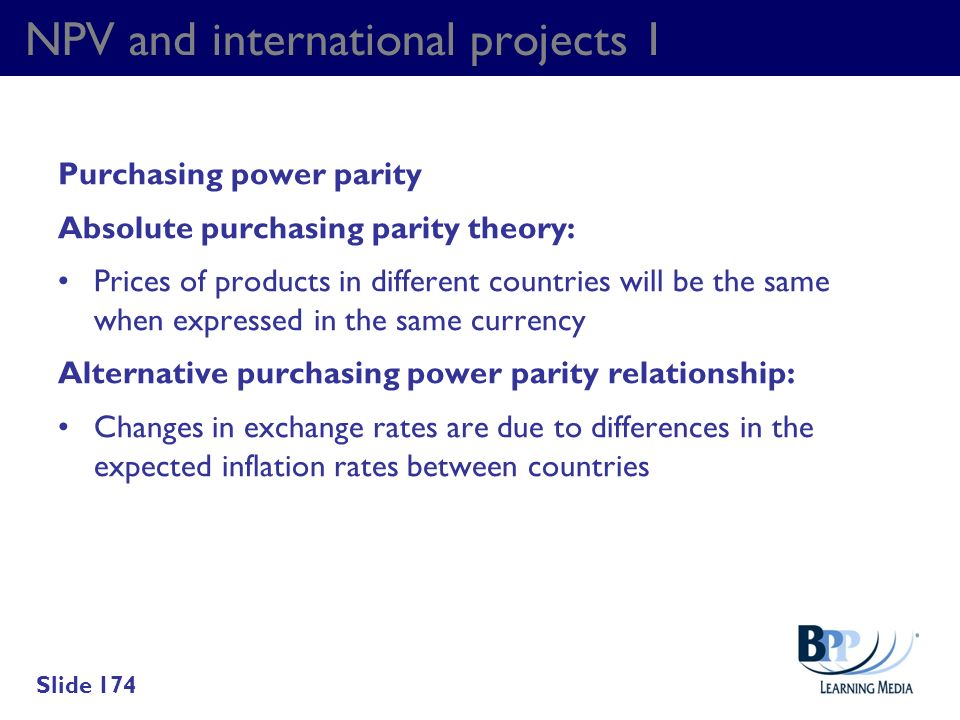 NPV and international projects 1