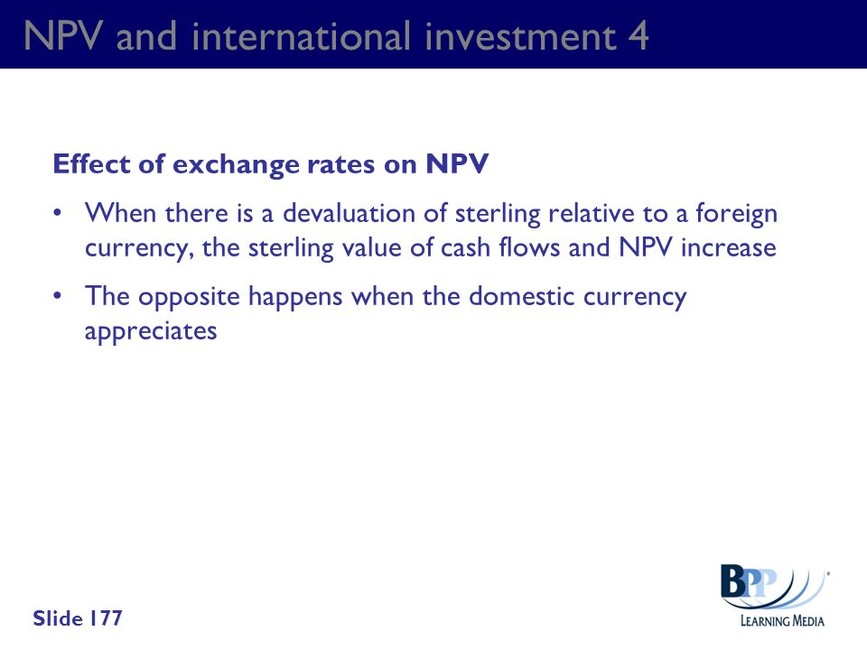 NPV and international investment 4