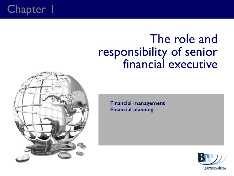 The role and responsibility of senior financial executive