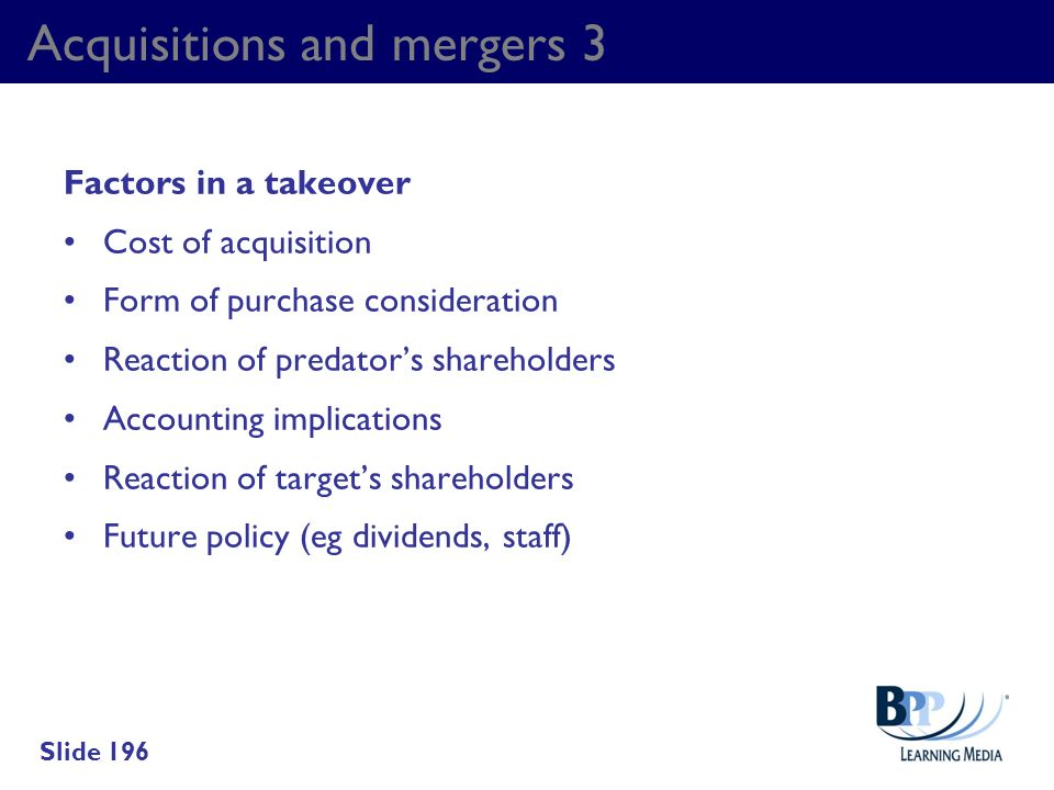 Acquisitions and mergers 3