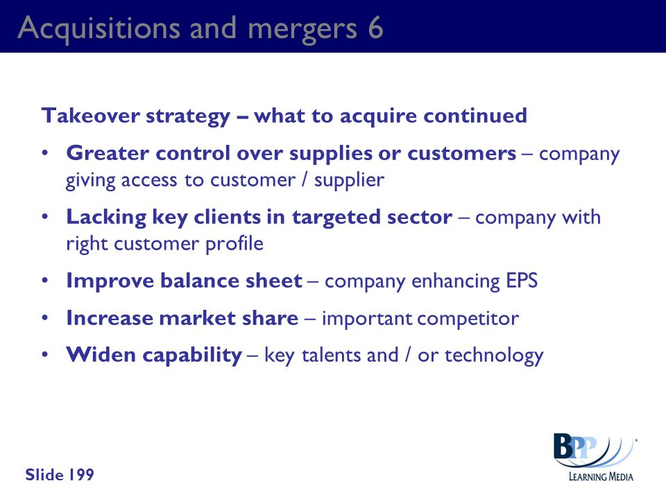 Acquisitions and mergers 6