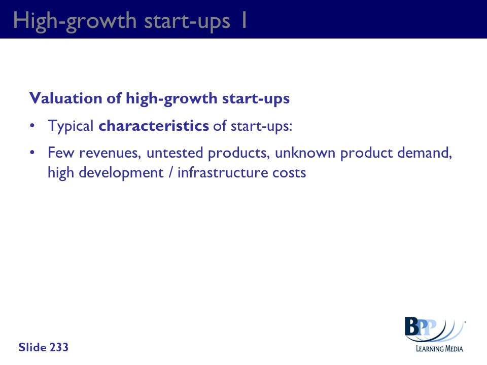 High-growth start-ups 1