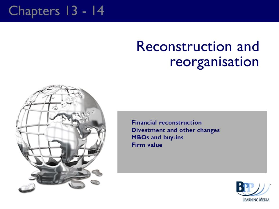 Reconstruction and reorganisation