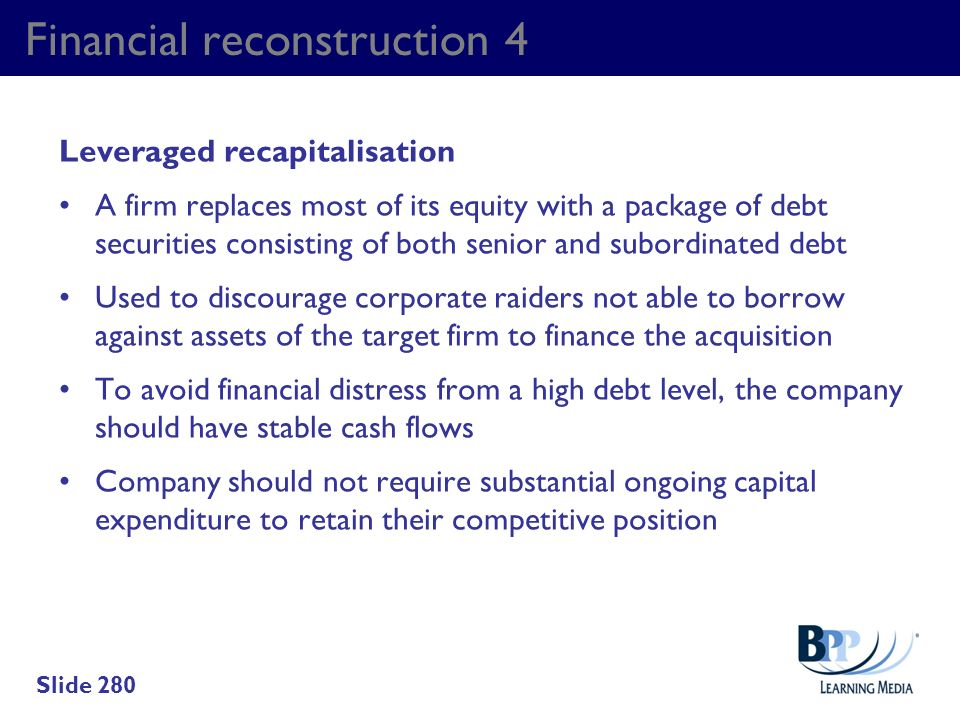 Financial reconstruction 4