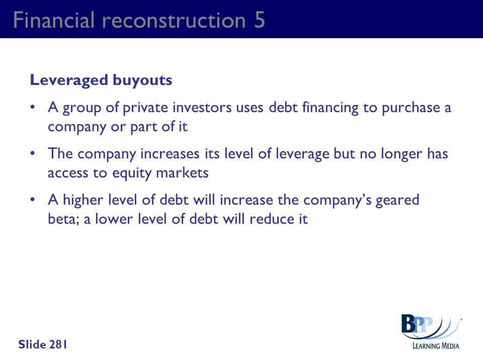 Financial reconstruction 5