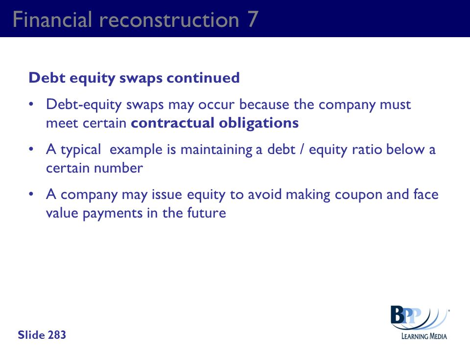 Financial reconstruction 7