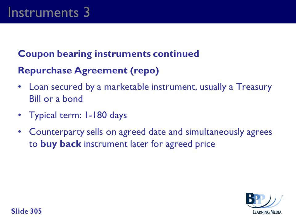 Instruments 3 Coupon bearing instruments continued