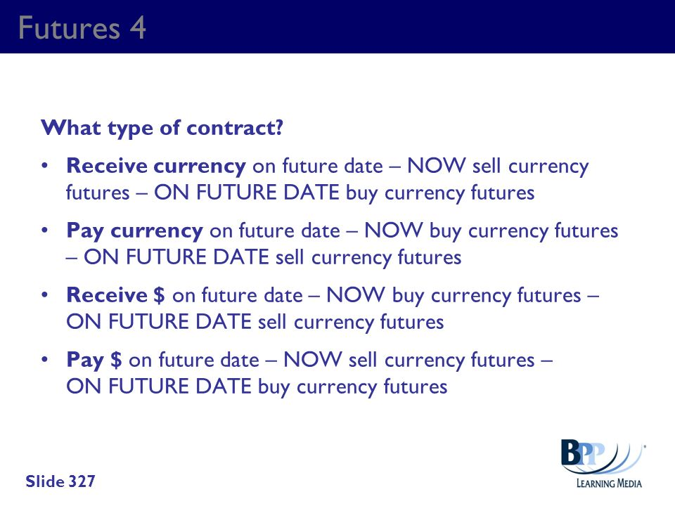 Futures 4 What type of contract