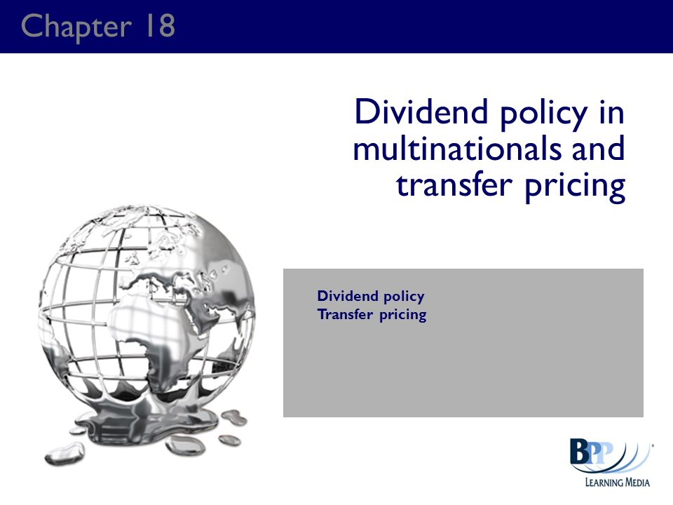 Dividend policy in multinationals and transfer pricing