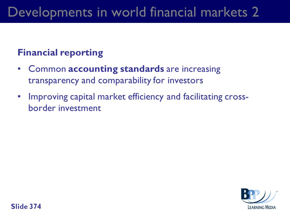 Developments in world financial markets 2