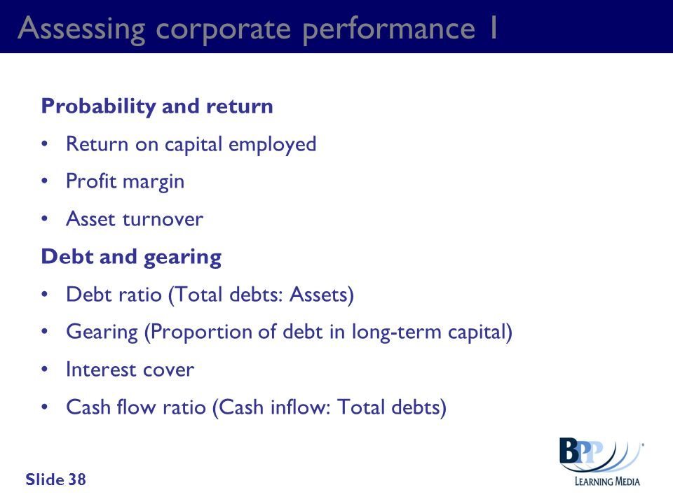 Assessing corporate performance 1