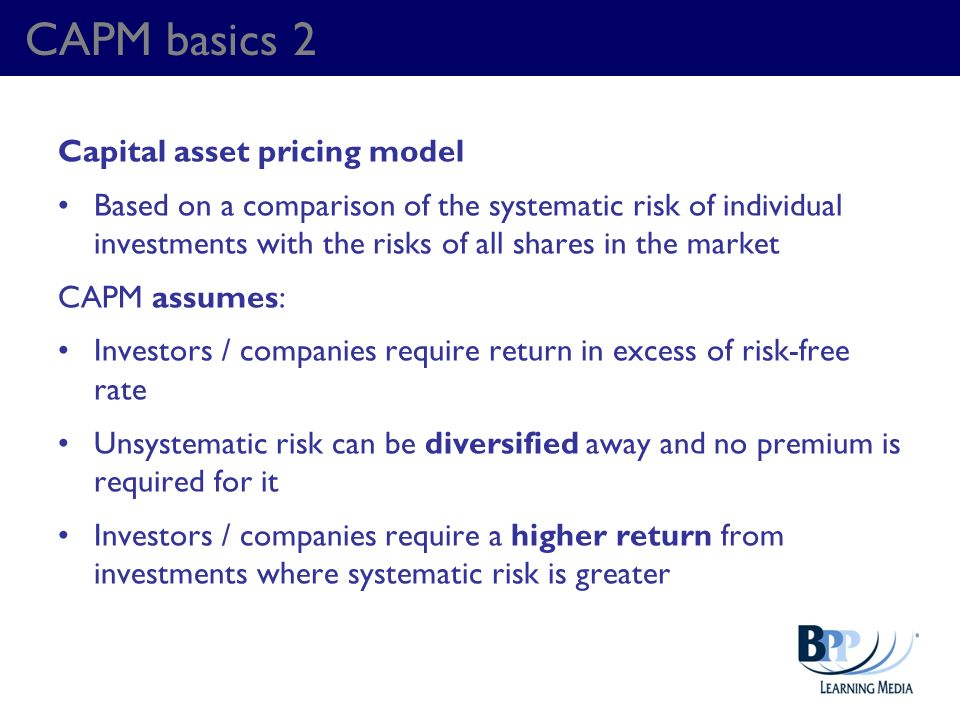 CAPM basics 2 Capital asset pricing model