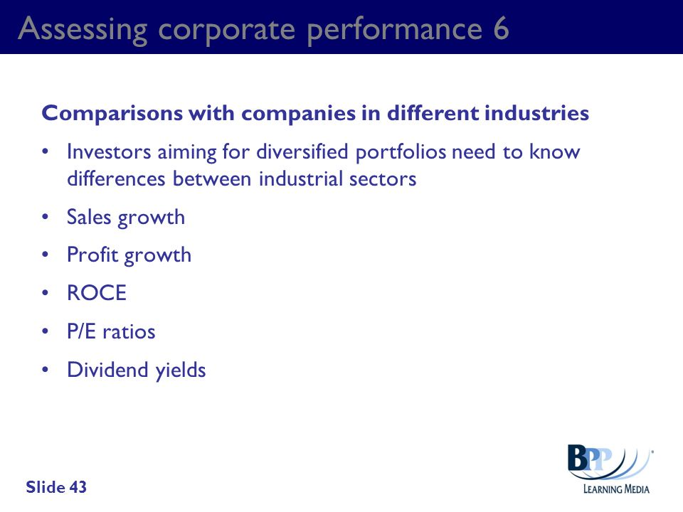 Assessing corporate performance 6