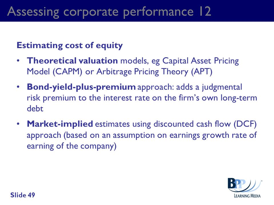 Assessing corporate performance 12