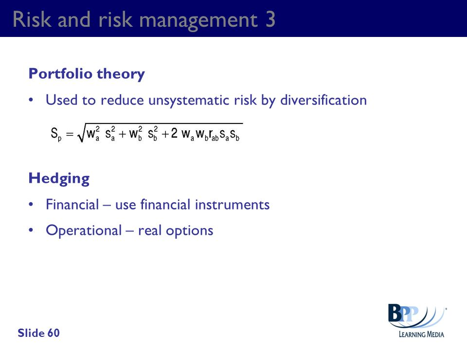 Risk and risk management 3