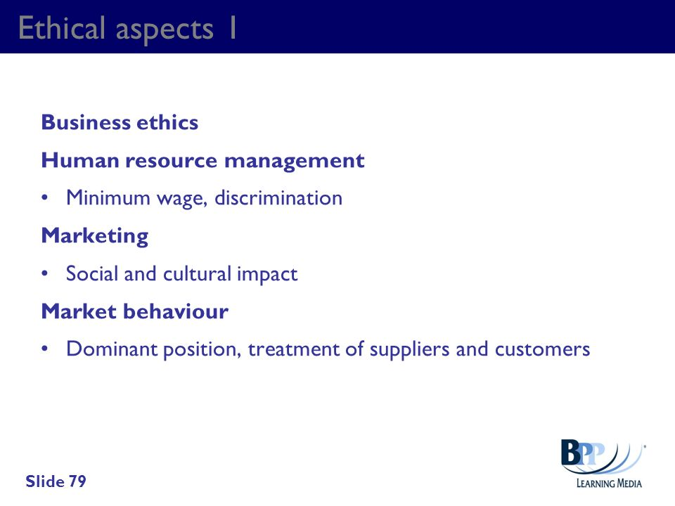 Ethical aspects 1 Business ethics Human resource management