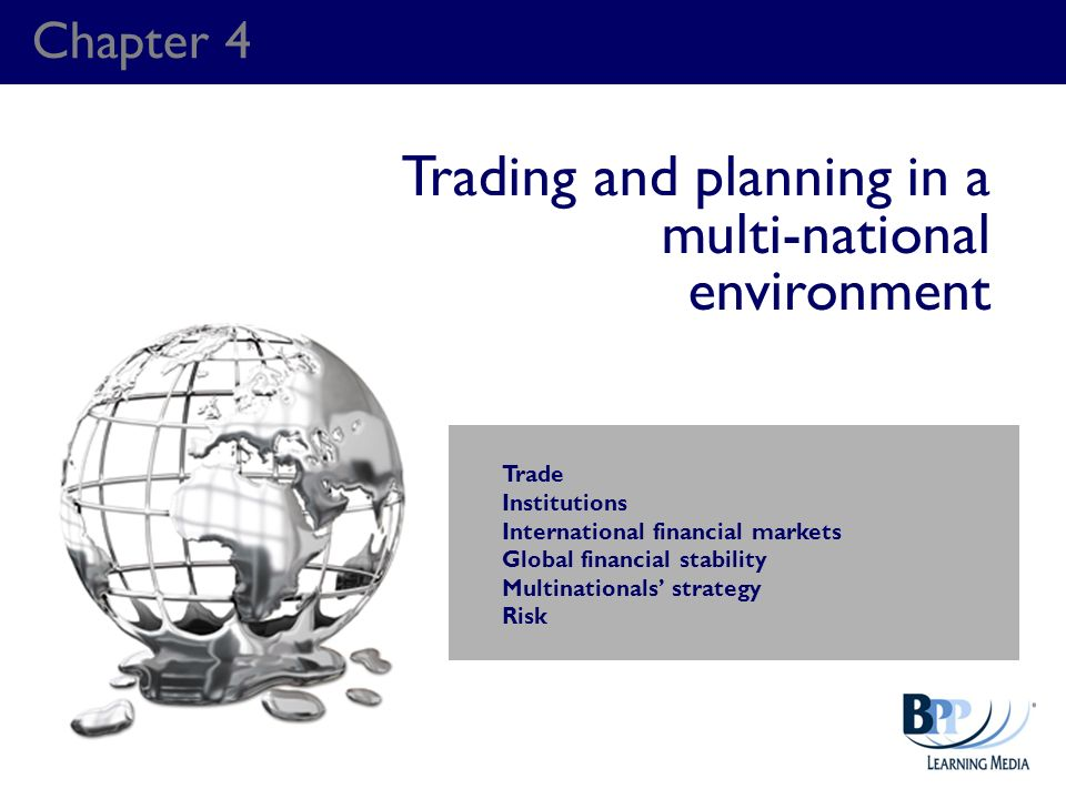 Trading and planning in a multi-national environment